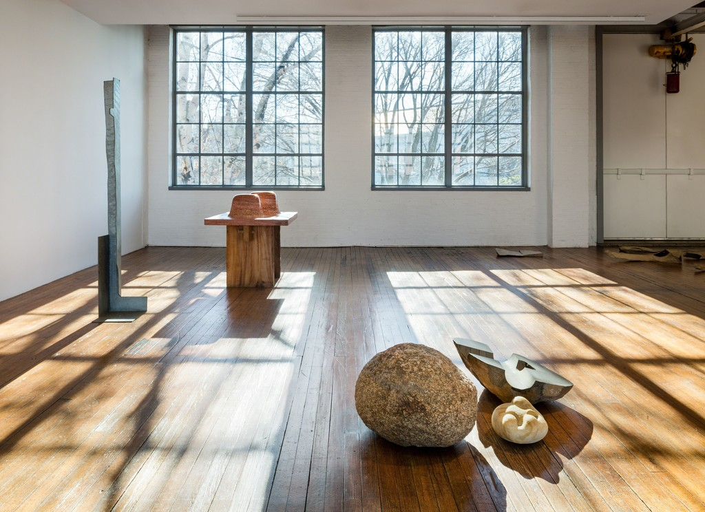 Installation view, 'Self-Interned, 1942: Noguchi in Poston War Relocation Center.' Photo: Nicholas Knight/©The Isamu Noguchi Foundation and Garden Museum, NY/ARS.