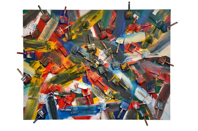 Arman (1928-2005), 'Battles Brushes', 1987, Galeries Bartoux Singapore