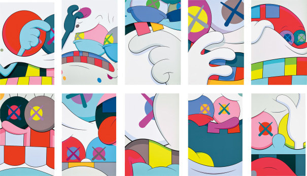 KAWS, 'Blame Game', 2014, Print, The complete set of 10 screenprints in colors, Upsilon Gallery