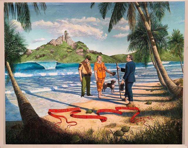 , 'The Unlikely Meeting of Boutros Boutros-Gahli and Sirhan Sirhan on Bora Bora,' 2015, Gregorio Escalante Gallery