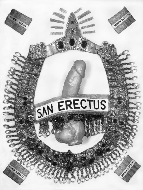 , 'San Erectus Heiligenbildchen (San Erectus Holy Card),' 1978, Richard Saltoun