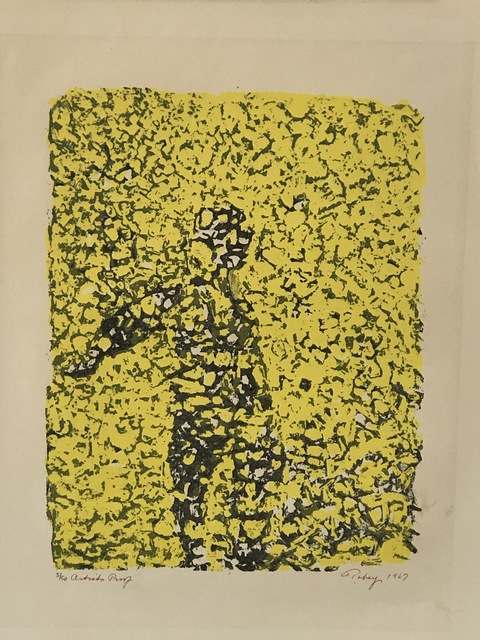 "Mark Tobey, '""Summer reflections""', 1967, Print, Color lithograph, Anders Wahlstedt Fine Art"