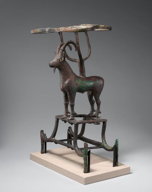 Unknown Sumerian, 'Vessel stand with ibex support', ca. 2600–2350 B.C., The Metropolitan Museum of Art