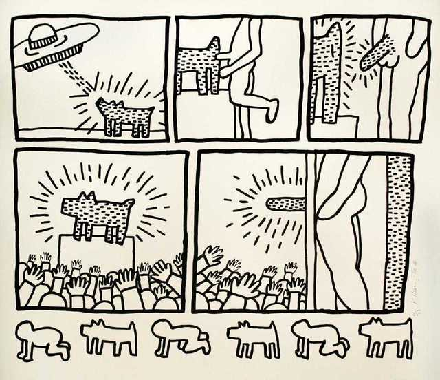 Keith Haring, 'Blueprint drawing #13', 1990, Kunzt Gallery