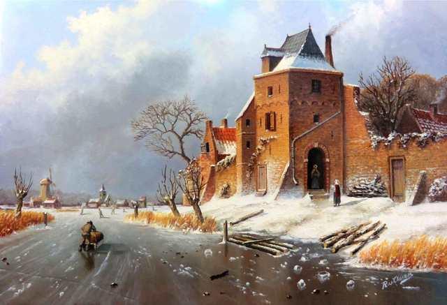 , 'Ice landscape with figures,' , ArtBoutique