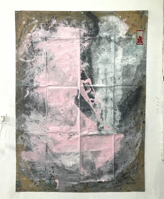 James Greco, 'Tarp Painting 15', 2017, Drawing, Collage or other Work on Paper, Spray enamel on canvas tarp, Elga Wimmer PCC