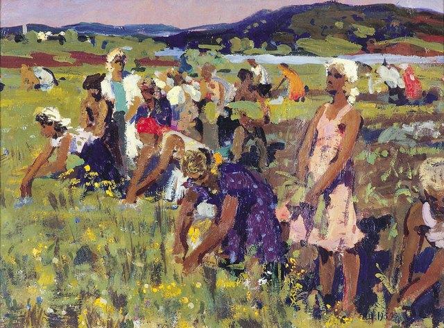 Pavel Fedorovich Shardakov, 'Children in the fields', 1959, Surikov Foundation