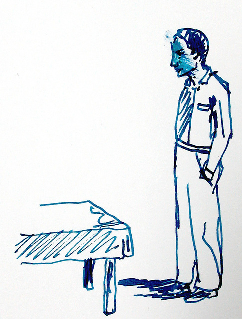 Stephan Balkenhol, 'Untitled', 2008, Drawing, Collage or other Work on Paper, Ink on paper, Akinci