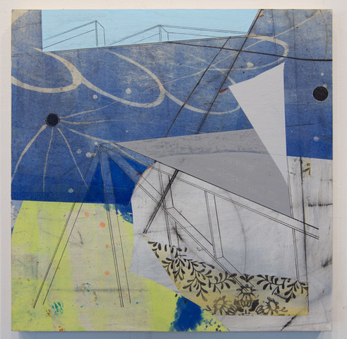 David Collins, 'Rigging 3', 2021, Painting, Acrylic and oil on paper mounted on panel, Susan Eley Fine Art