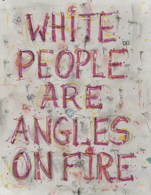 , 'Skin Set Drawing: White People Are Angles On Fire,' 2004, Tate Liverpool