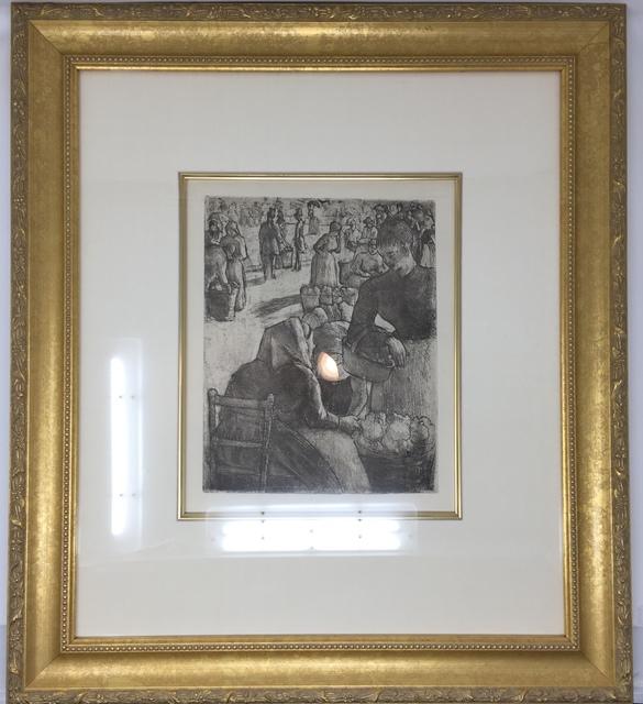 """Camille Pissarro, '""""Marche Aux Legumes, A Pontoise"""" or """"Vegetable Market in Pontoise""""', Delteil 97-c. 1891., Acquisitions Of Fine Art"""