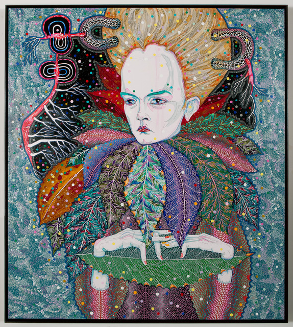 Del Kathryn Barton, 'of pollen', 2013, Painting, Synthetic polymer paint and gouache on polyester canvas, Roslyn Oxley9 Gallery