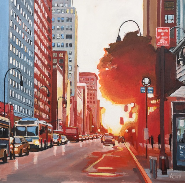 Angela Wakefield, 'New York City Street at Sunset', 2017, Ascot Studios
