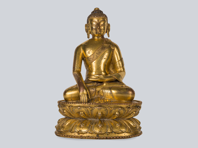 , 'A Rare Gilt Bronze Figure of Shakyamuni, Tibet 13-14th Century, 15 cm.,' , Arman Antiques Gallery