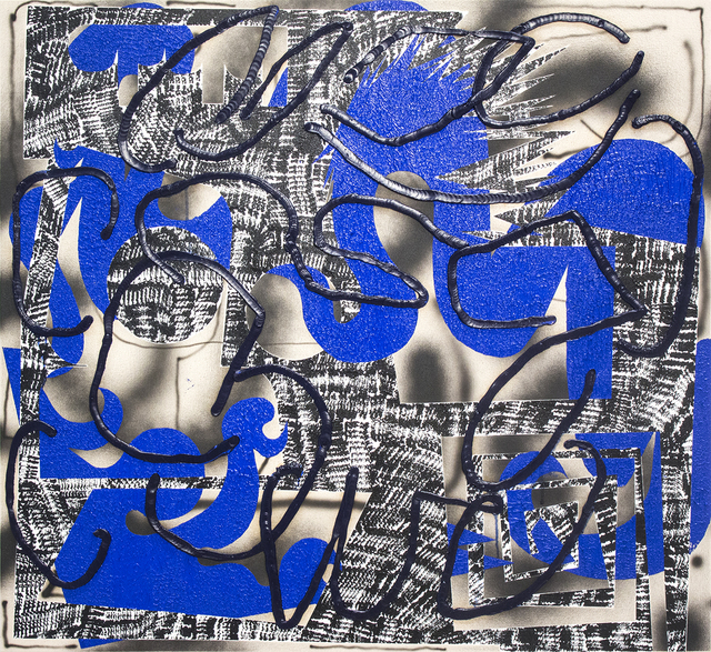 , 'Blue Cel,' 2016, Ribordy Contemporary