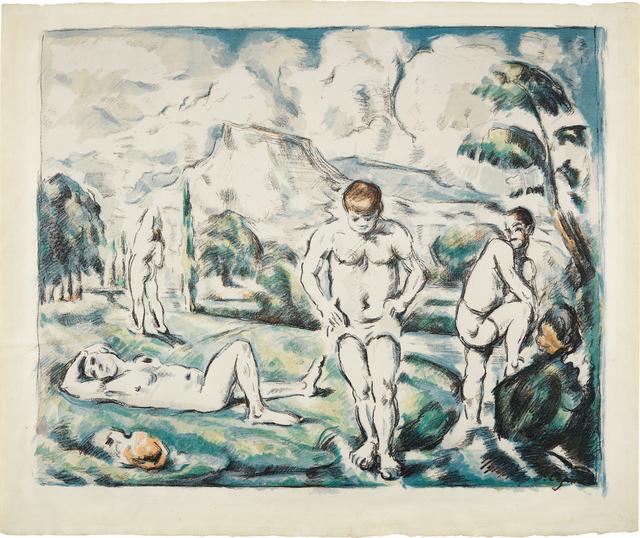 Paul Cézanne, 'Les baigneurs (grande planche) (The Large Bathers)', ca. 1896-98, Phillips