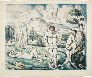Les baigneurs (grande planche) (The Large Bathers)