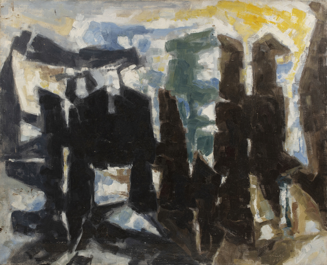 Paul Kallos, 'Composition', 1957, Painting, Oil on canvas, Millon