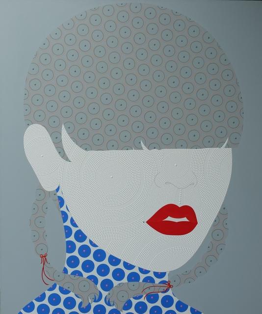 , 'She on grey with red lips,' 2017, La Lanta Fine Art