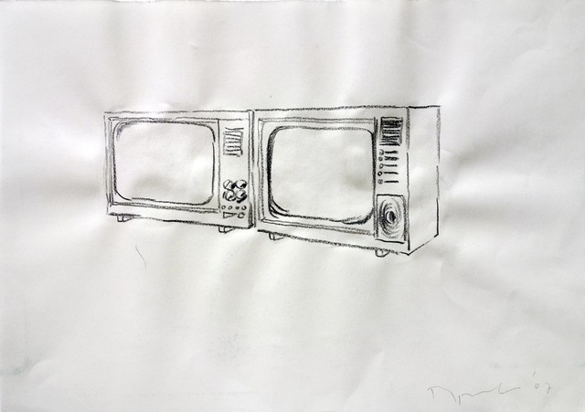 , 'Drawing (Two TV sets),' 2007, SARIEV Contemporary