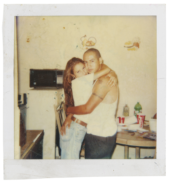 , 'Photographer unknown, Guadalupe Rosales's cousin, Ever Sanchez (right), and unidentified woman, East Los Angeles, 1995,' 1995, Cantor Fitzgerald Gallery, Haverford College