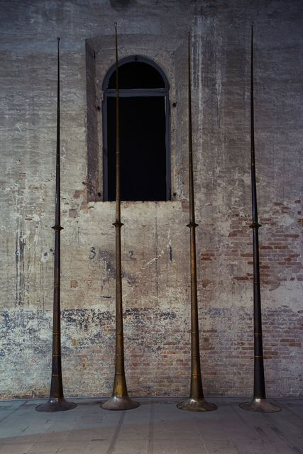 Terry Adkins, 'Last Trumpet (Installation view)', 1995, 56th Venice Biennale