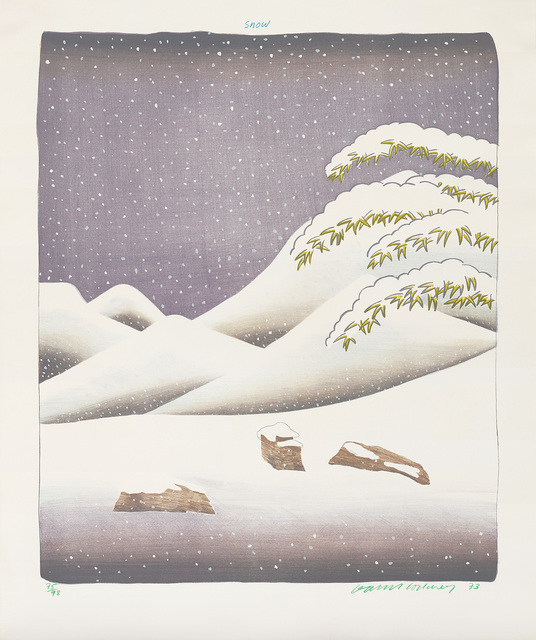 David Hockney, 'Snow, from Weather Series', 1973, Phillips
