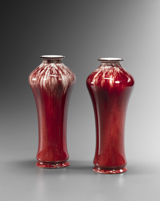 """, 'Pair of """"Sang-de-Boeuf"""" Vases,' 1903, Galerie Didier Luttenbacher"""