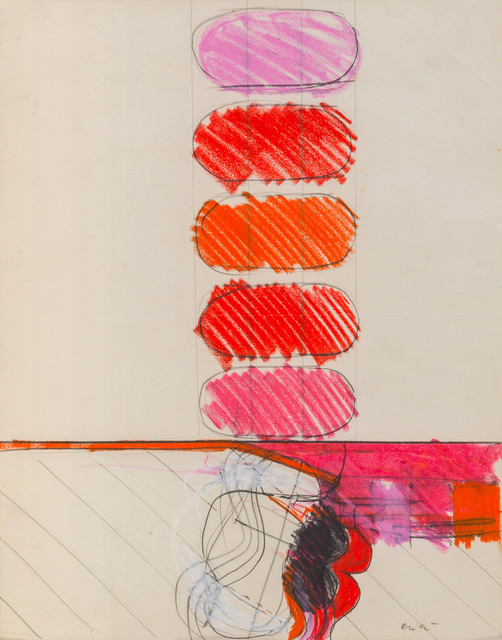 Rodolfo Aricò, 'Untitled', 1960s, Painting, Mixed media, pencil and pastel on paper, ArtRite