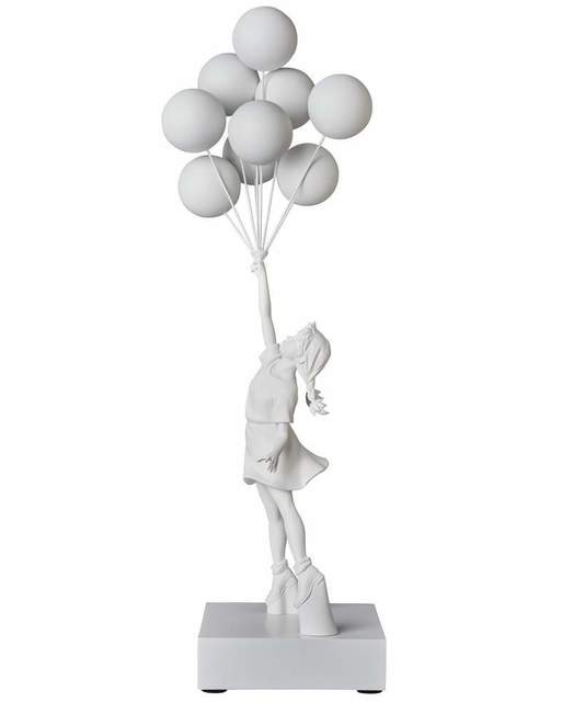 Banksy, 'Flying Balloons Girl (White)', 2018, Sculpture, Polystone, Rite Gallery
