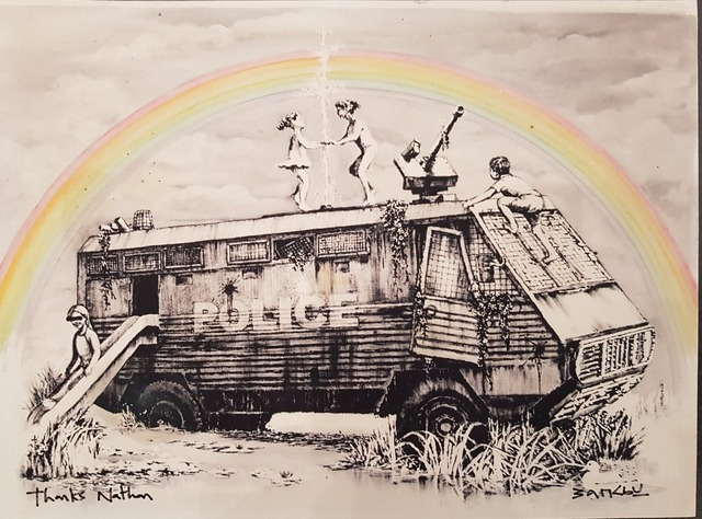 Banksy, 'Riot Van - Signed for Dismaland Employee with provenance', 2015, Hidden