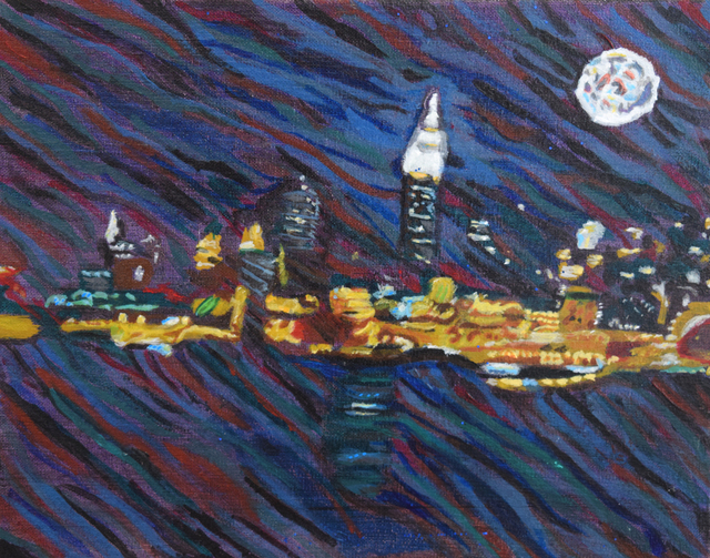 A. Lutz, 'NYC Nightscape', 2016, Fountain House Gallery