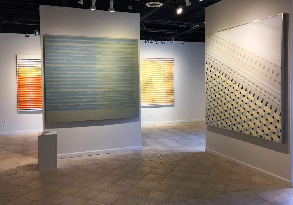 Anthony Greco: Paintings from the 1970s. Left to Right: 314/Fourteen (1976), 314/Fifteen (1976), 314/Twelve (1976), Tiles#2