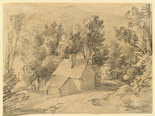 , 'Study of a House and Shed in a Wooded Valley,' ca. 1783, Clark Art Institute