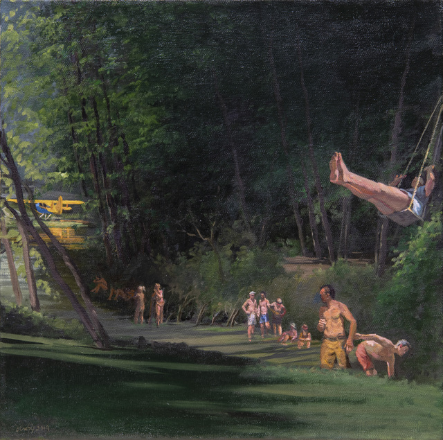 , 'Swimming with Seaplane,' 2019, Barney Savage Gallery