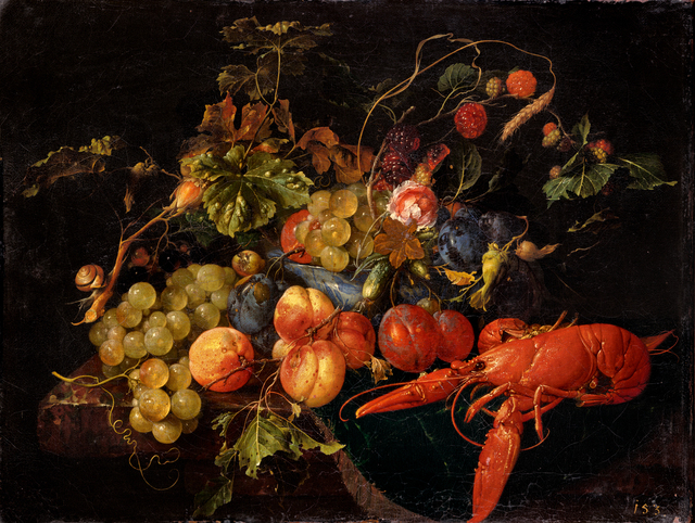 , 'A Lobster, Fruit and Flowers,' undated, Belvedere Museum