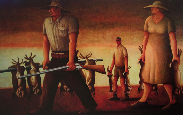 , 'Rabbiting in the Wimmera,' 2012, Anthony Horth Gallery