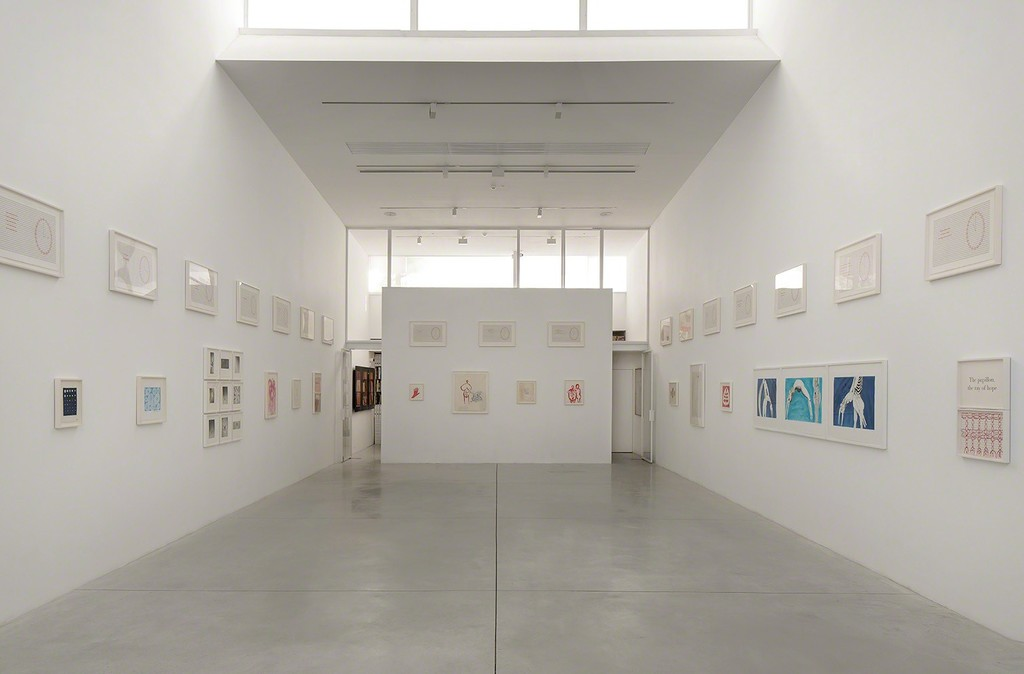 Installation view of Louise Bourgeois: Pink Days / Blue Days at Gordon Gallery in Tel Aviv (5Sept17-28Oct17).