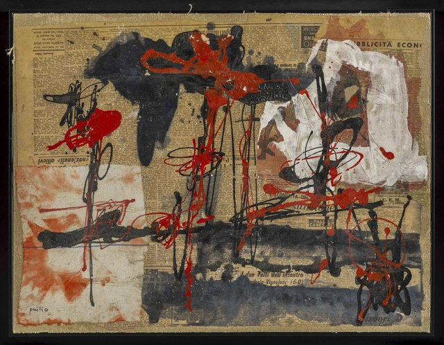 Achille Perilli, 'Lacrime per l'anarchia', 1957, Painting, Mixed media on canvas, ArtRite
