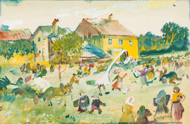 , 'Carnival's Sunday  in the  Waldviertel,' 1940, Galerie Kovacek & Zetter