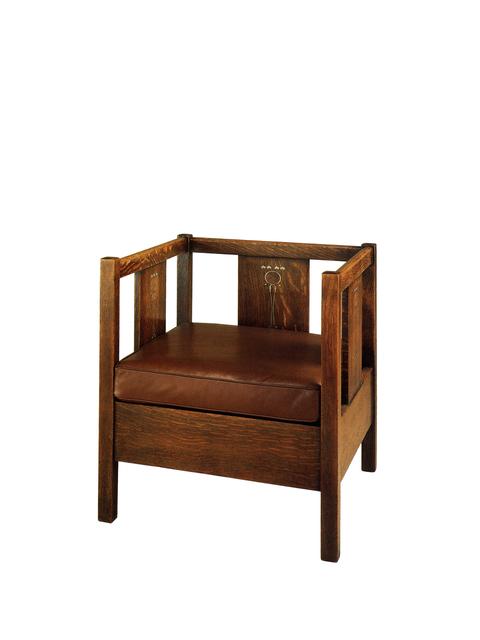 , 'Cube Armchair,' 1903, Oscar Graf