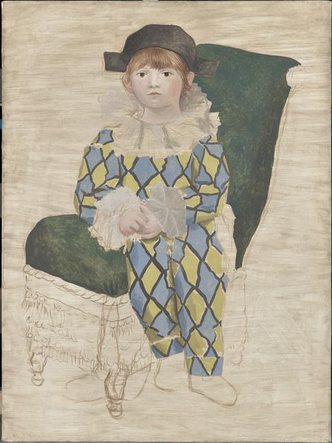 Pablo Picasso, 'Paul en Arlequin', Paris-1924, Painting, Oil on canvas, Musée Picasso Paris
