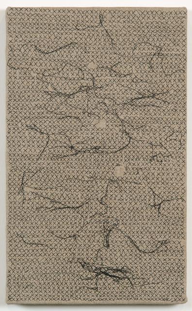 , 'Black Thread Stitches,' 2013, James Cohan