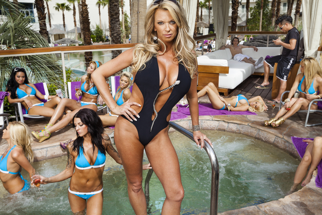 , 'VIP hostess Tiffany Masters, 38, with her Cabana Candy team at the Hard Rock Hotel and Casino,' 2010, Fahey/Klein Gallery