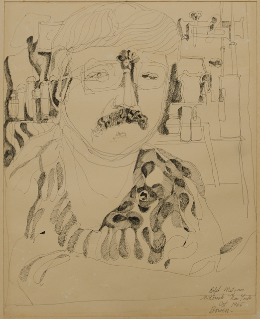 Michael Bowen, 'Portrait of Ralph Metzner', ca. 1965, The Art Collection of the University of Agder