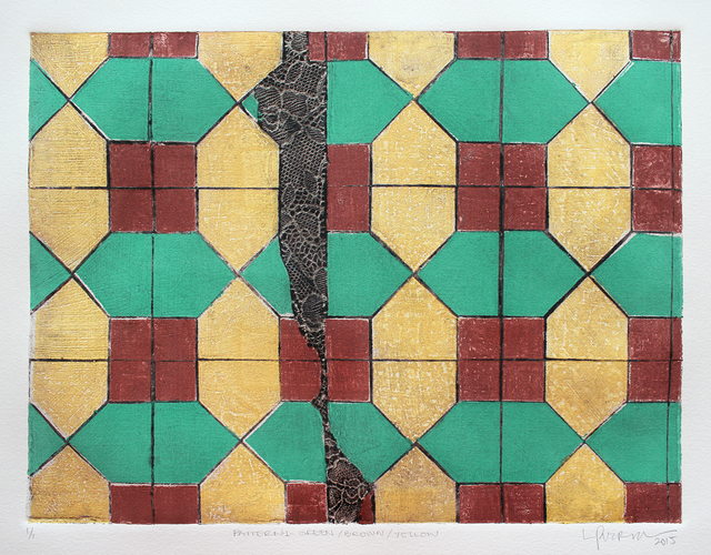 , 'Pattern 1 Green + Brown + Yellow,' 2015, Geary