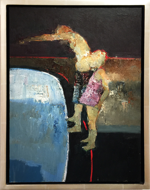 Danny McCaw, 'Diving In', 2018, Painting, Oil in board (framed), Sue Greenwood Fine Art
