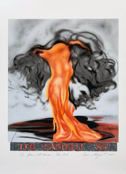 James Rosenquist, 'The Flame Still Dances on Leo's Book (not in Glenn) from the portfolio of Leo Castelli's 90th Birthday', 1997, Hamilton-Selway Fine Art