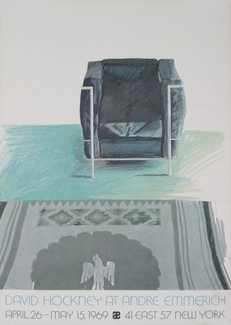 David Hockney, 'Corbusier Chair and Rug', 1969, Ephemera or Merchandise, Exhibit Poster, Leviton Fine Art