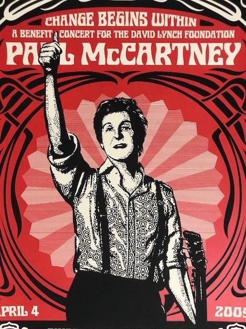 "Shepard Fairey, '""Paul McCartney NYC Change Begins Within""', 2009, New Union Gallery"